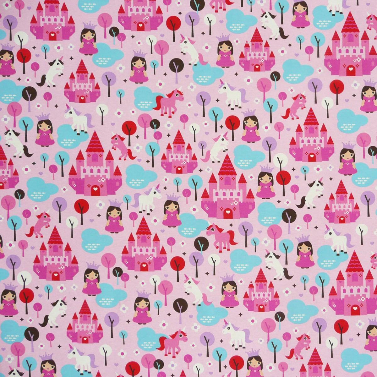 36245-Dekostoff-Prinzessin-Einhorn-rosa