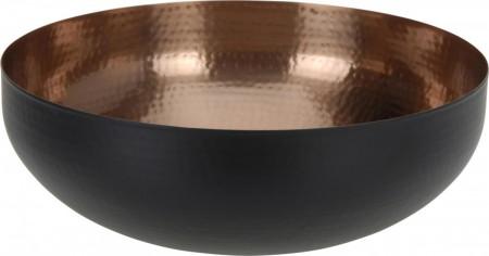 33203-Dekoschale-Schale-Kupfer-schwarz---21cm