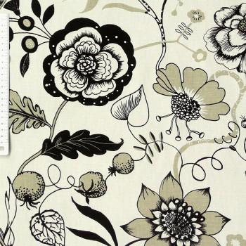 34664-Dekostoff-Herb-Garden-Blumen-beige-braun_1