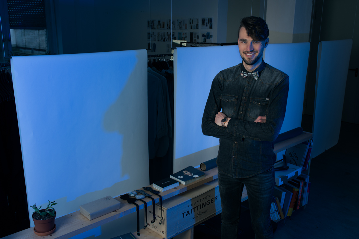 Daniel Goletz in seinem Atelier in Berlin-Kreuzberg
