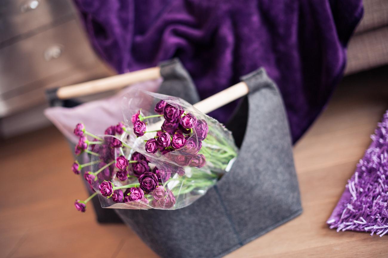 Farbwelten Lila Inspiration Dekoration Blumen