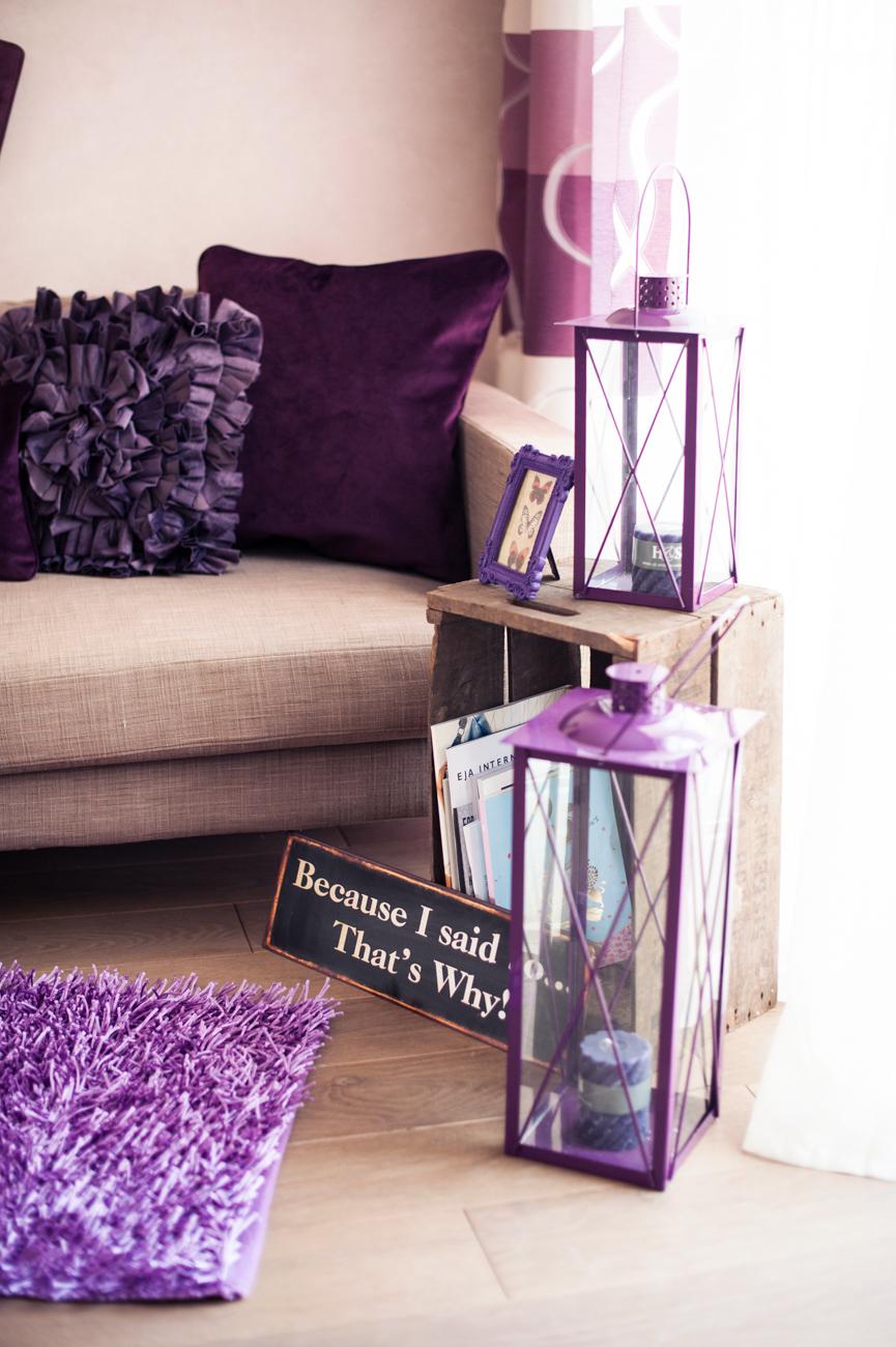 Lila Inspiration Dekoration