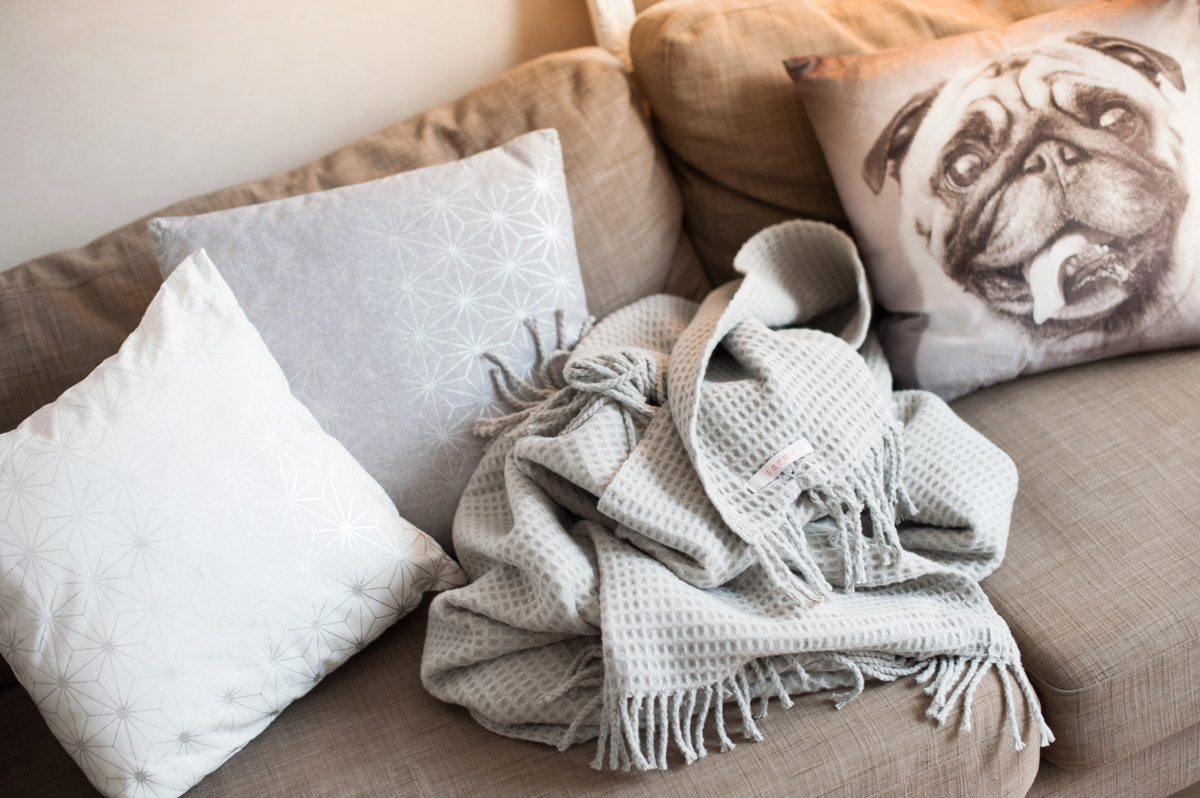 Silber Farbwelt Kissen Decke